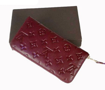 Louis Vuitton Monogram Empreinte Secret Long Wallet M93434 Bordeaux