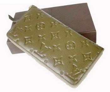 Louis Vuitton Monogram Empreinte Secret Long Wallet M93434 Green