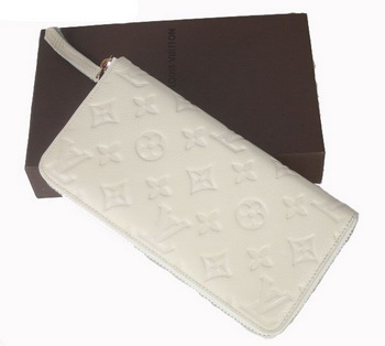 Louis Vuitton Monogram Empreinte Secret Long Wallet M93434 Off-White
