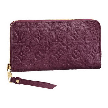 Louis Vuitton M60359 Monogram Empreinte Secrete Long Wallet Aurore