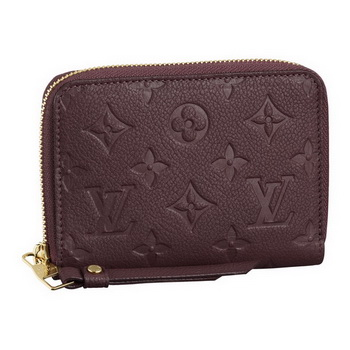 Louis Vuitton M93429 Monogram Empreinte Secrete Compact Wallet Flamme