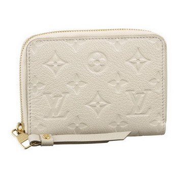 Louis Vuitton M93432 Monogram Empreinte Secrete Compact Wallet Neige