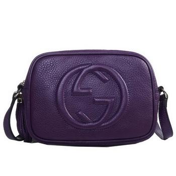 97b4e75eb0d8 Gucci Soho Calfskin Leather Disco Bag 308364 Red