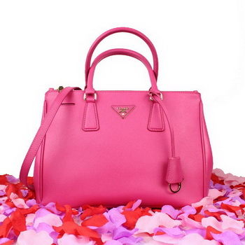 2013 Prada Saffiano Calfskin Leather Tote Bag BN2274 Rose