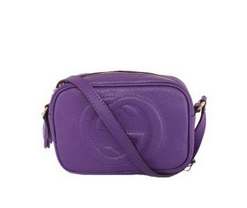 530a1feb977a Gucci Soho Calfskin Leather Disco Bag 308364 Silver