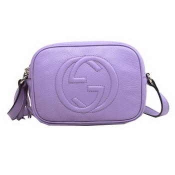 e161ae2789d6 Gucci Soho Calfskin Leather Disco Bag 308364 Lavender