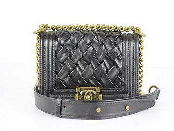 Boy Chanel Flap Shoulder Bag Snake Leather A67024 Black,knockoff 71c6a4fd6c7
