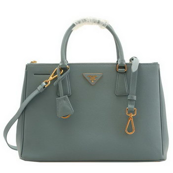 Prada BN2274 Saffiano Light Blue Calfskin Leather Tote Bag