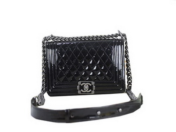 cbe3a751f340 Boy Chanel Flap Shoulder Bag Sheepskin Leather A67025 Blue Black ...