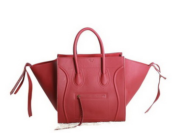 fd351d81d15c Celine Luggage Phantom Original Leather Bags C3341 Red