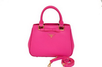 Prada BN2245 Plum Saffiano Calf Leather Tote Bag
