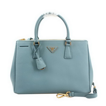 Prada Saffiano Leather 33CM Tote Bag BN2274 Light Blue