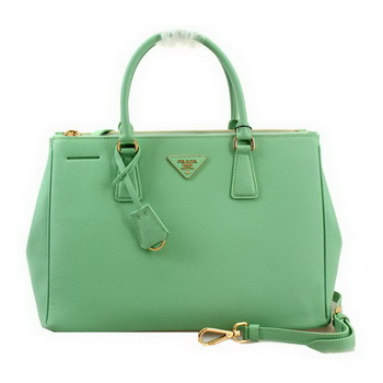 Prada Saffiano Leather 33CM Tote Bag BN2274 Light Green