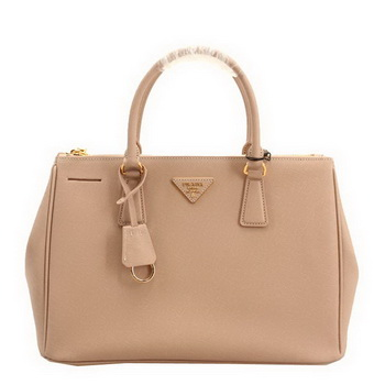 Prada BN2274 Saffiano Leather 33CM Tote Bag Apricot
