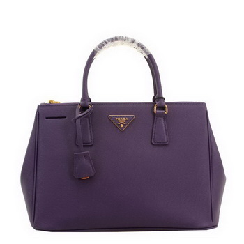 Prada BN2274 Saffiano Leather 33CM Tote Bag Purple