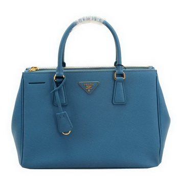 Prada BN2274 Saffiano Leather 33CM Tote Bag SkyBlue