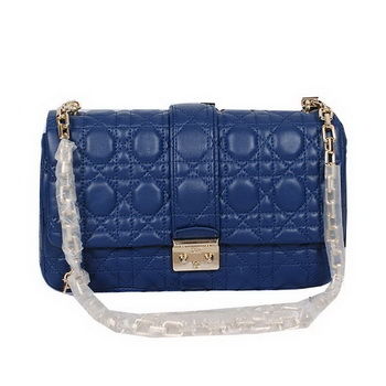 56ca458a89e1 MISS DIOR Medium Shoulder Bag Lambskin Leather 22049 Blue