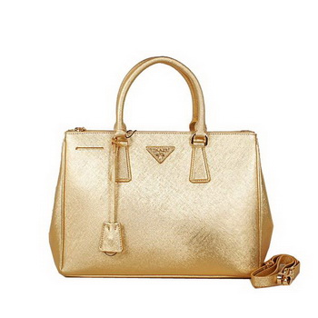 Prada BN2274 Gold Saffiano Leather Tote Bag