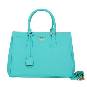 Prada BN2274 Light Green Saffiano Leather Tote Bag