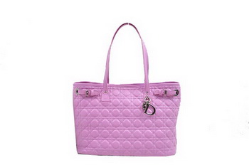 Dior Soft Tote Handbag in Sheepskin D9618 Plum