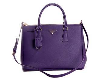 Prada Saffiano Calf Leather Tote Bag BN2274 Violet