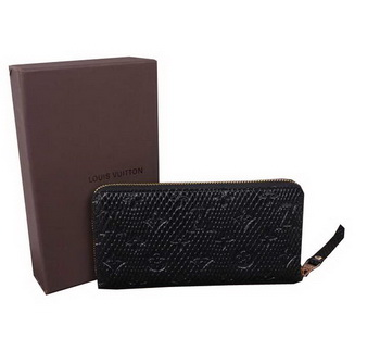 Louis Vuitton Monogram Empreinte Secret Long Wallet M91446 Black