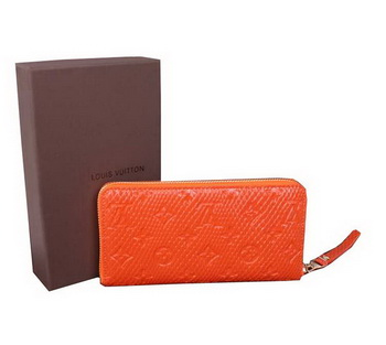 Louis Vuitton Monogram Empreinte Secret Long Wallet M91446 Orange