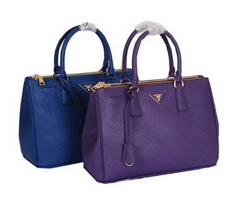 Prada Saffiano Leather Tote Bag BN2274 Blue&Violet