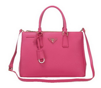 Prada BN2274 Peach Saffiano Calfskin Leather Tote Bag