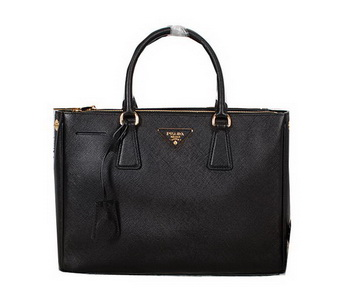 Prada Original Saffiano Calfskin Leather Tote Bag BN2274 Black