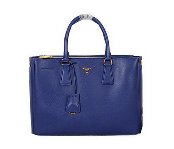 Prada Original Saffiano Calfskin Leather Tote Bag BN2274 Blue