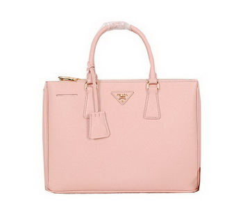 Prada Original Saffiano Calfskin Leather Tote Bag BN2274 Pink