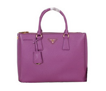 Prada Original Saffiano Calfskin Leather Tote Bag BN2274 Purple