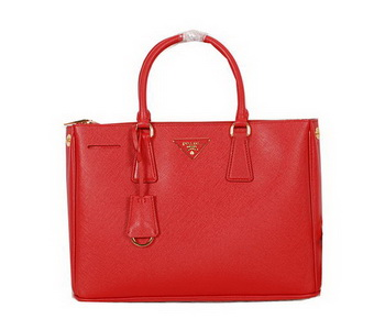Prada Original Saffiano Calfskin Leather Tote Bag BN2274 Red