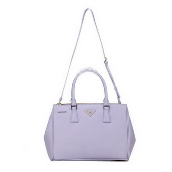Prada BN2274 Lavender Saffiano Calfskin Leather Tote Bag