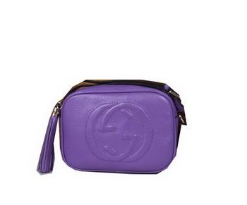 77c9a761d30d Gucci Soho Calfskin Leather Disco Bag 308364 Violet