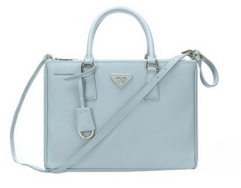 Prada 33CM Saffiano Leather Tote Bag BN2274 Light Blue