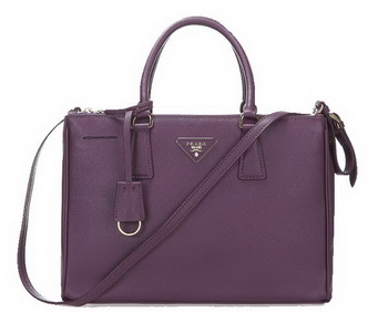 Prada 33CM Saffiano Leather Tote Bag BN2274 Purple