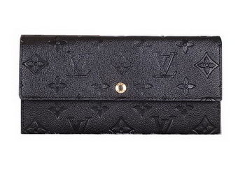Louis Vuitton Monogram Empreinte Sarah Wallets M61734 Black