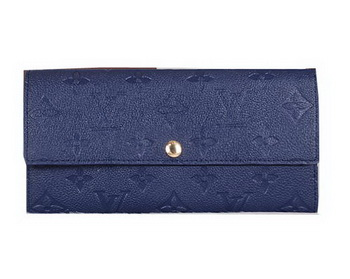 Louis Vuitton Monogram Empreinte Sarah Wallets M61734 Blue