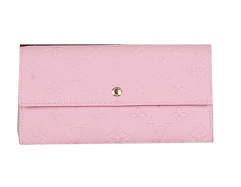 Louis Vuitton Monogram Empreinte Sarah Wallets M61734 Pink
