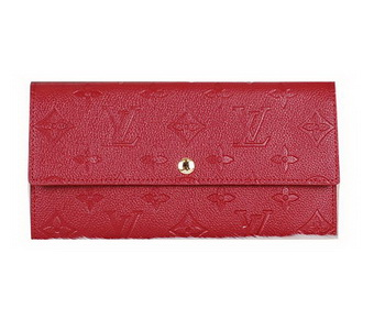Louis Vuitton Monogram Empreinte Sarah Wallets M61734 Red