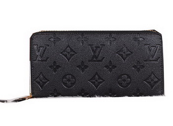 Louis Vuitton Monogram Empreinte Zippy Wallet M60017 Black