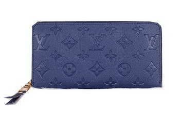 Louis Vuitton Monogram Empreinte Zippy Wallet M60017 Blue