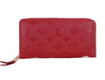 Louis Vuitton Monogram Empreinte Zippy Wallet M60017 Red