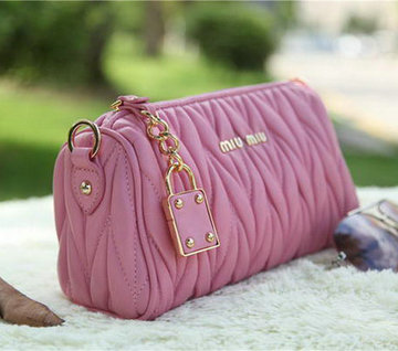 miu miu Matelasse Leather mini Bag RT3259 Pink