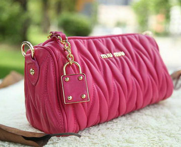 miu miu Matelasse Leather mini Bag RT3259 Rose
