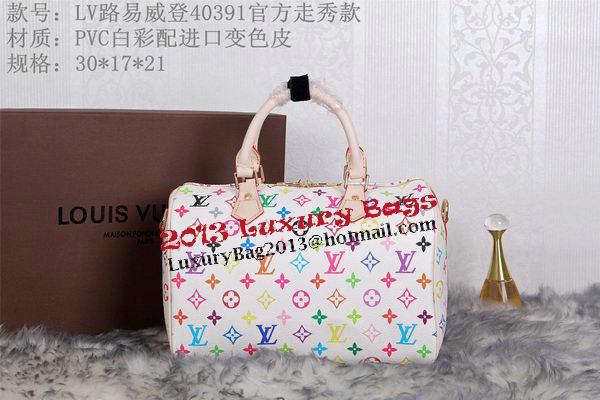 45054bb6039c Louis Vuitton Monogram Multicolore Speedy 30 Tote Bag M40391 White ...