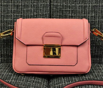 Miu Miu Soft Calf Leather Flap Bag RP0071 Pink