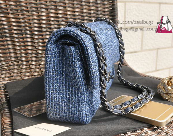 449f0c6eaefd Chanel 2.55 Series Classic Flap Bag Fabric CF1112 Royal,replica designer